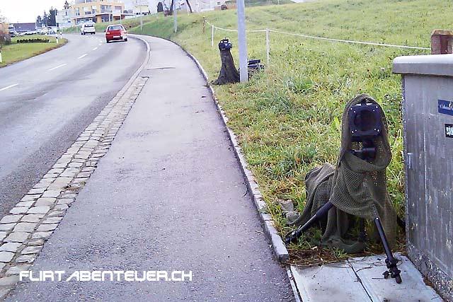 Mobiler Radar, Aargau: Vorne der Radar-Doppler, hinten das Aufnahmegerät